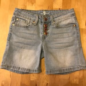 7 for all Mankind 4 Button Fly Jean Shorts